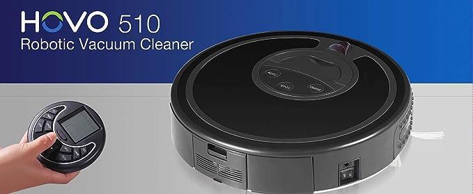 Infinuvo Hovo 510 Robotic Vacuum Cleaner with home de carga estación de carga, planificador, Control remoto, UV light and virtual betabloqueantes by ...