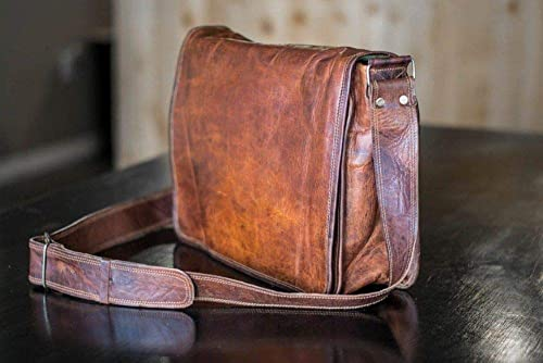 Vintage Leather Men/'s Handmade Brown Laptop Shoulder Satchel Messenger New Bag