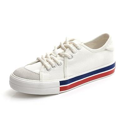 Women Canvas Shoes Summer Female Shoes Patchwork Flat Heel