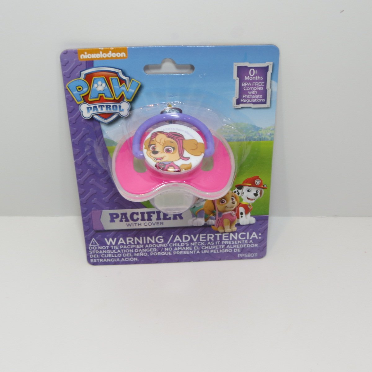 Paw Patrol Baby Pacifier with Cover - Bundle of 2 - One Everest and One Skye Pacifier