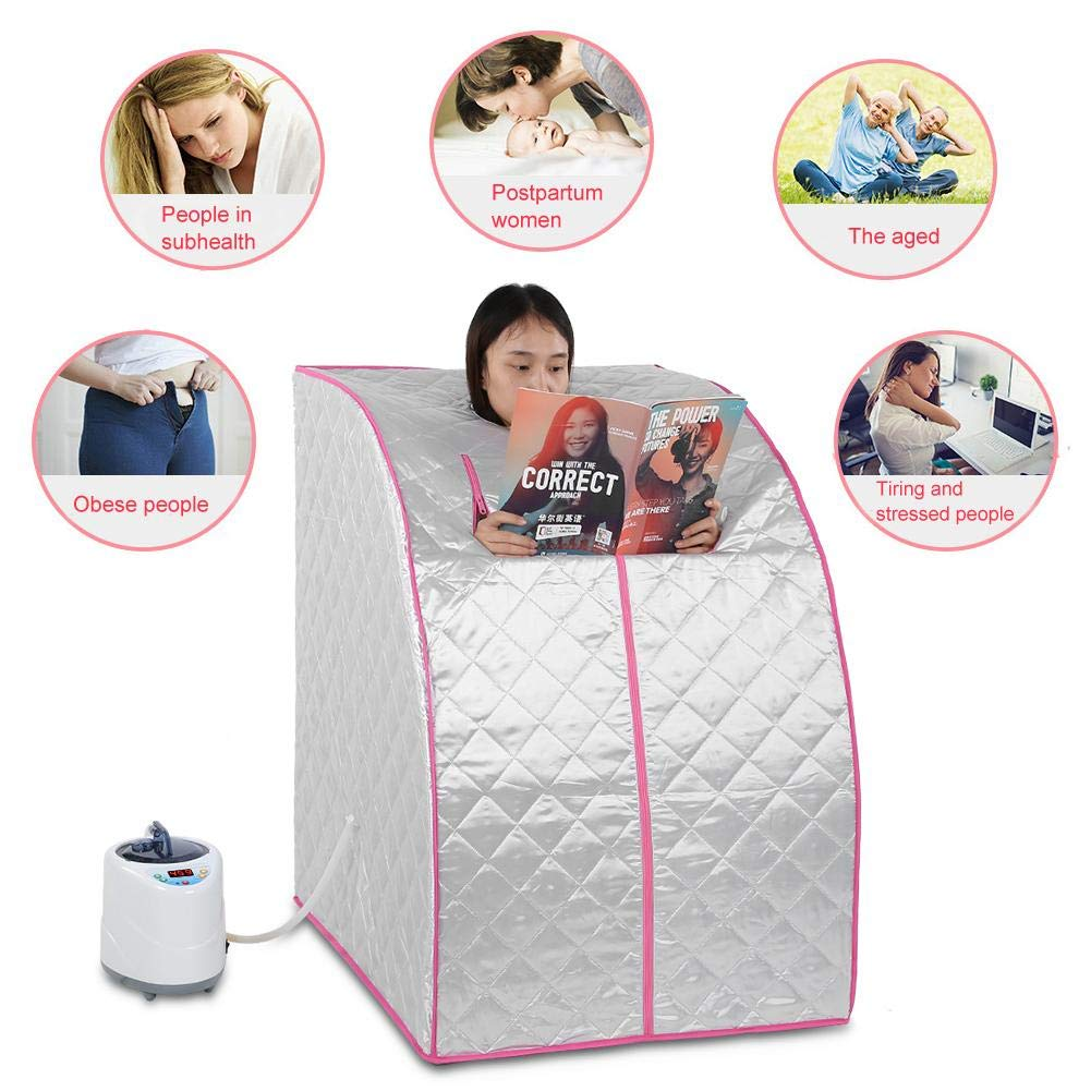 HIGHKAS Sauna Machine Portable 1.5L Steam Sauna Spa Home Tent Pot Machine Slimming Weight Loss Therapy British Standard 220v Which can Take you not Only Health but Also Beauty