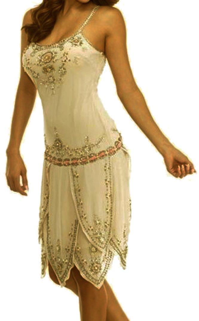 Bees Knees - Sandcastle Tan Victorian Flapper Wedding Vintage Style Dress (LG) by CSDttT