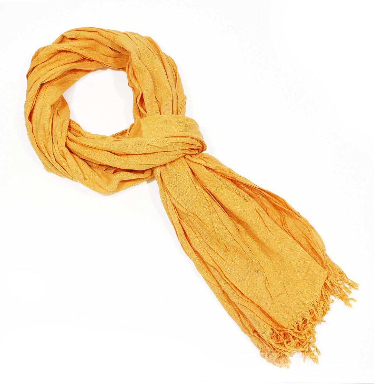 One Size Women Orange Flame Wrinkles Fashion Cotton Scarf