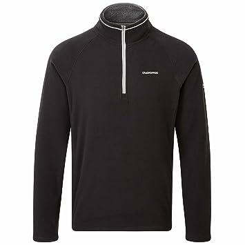 Craghoppers Men's Selby Half Zip Jacket, Black, Small