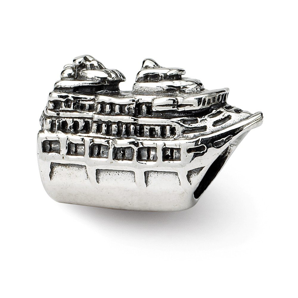 Solid 925 Sterling Silver Reflections Cruise Ship Bead 13.6mm x 8.2mm