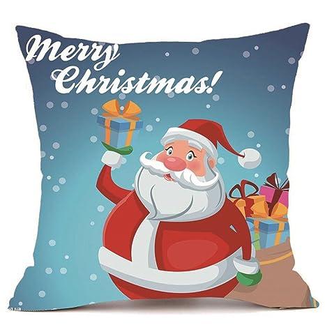 MERICAL Feliz Navidad Cover Home Fundas de Almohada Super ...