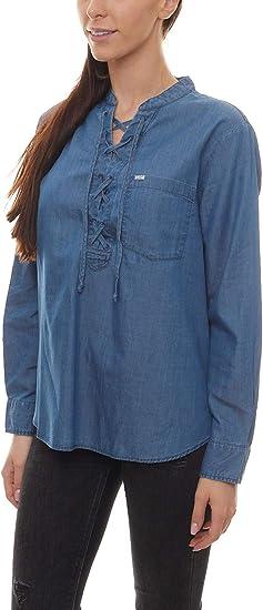 TALLA S. Lee Drawcord Shirt Blusa para Mujer