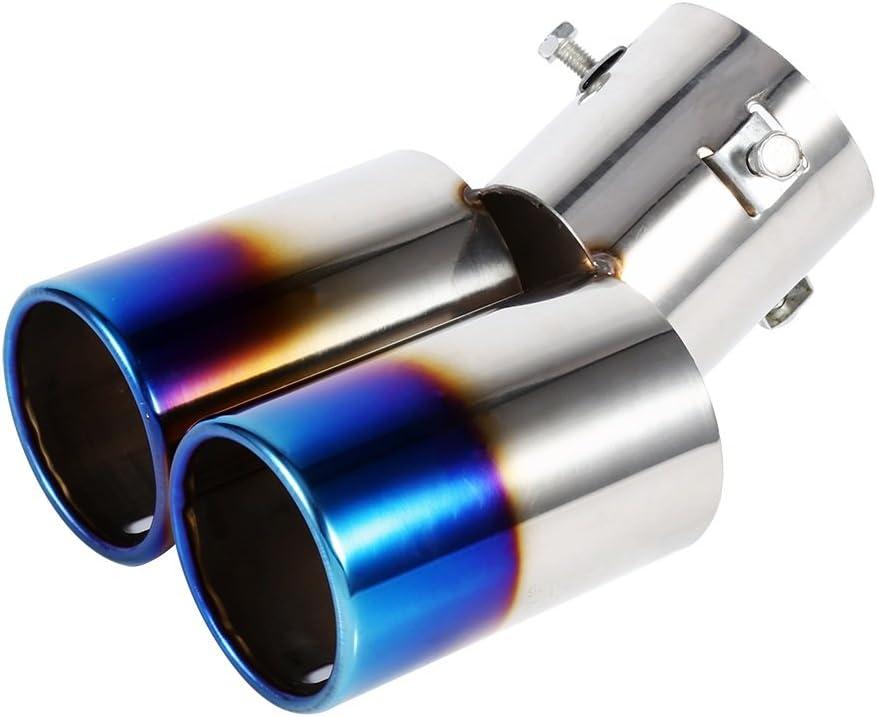 Tail Pipe d/échappement de voitures en acier inoxydable r/ésistant /à la corrosion arri/ère /à tube for Tucson 2014 2015 2016 2017 2018 2019 2020 Double sortie d/échappement Silencieux Conseils