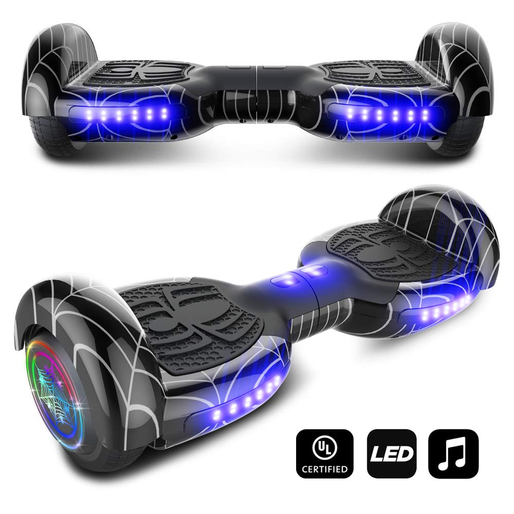 cho Spider Wheels Series Hoverboard UL2272 Certified Hover Board with 6.5 inch Wheels Electric Scooter Smart Self Balancing Wheels (Black) by cho