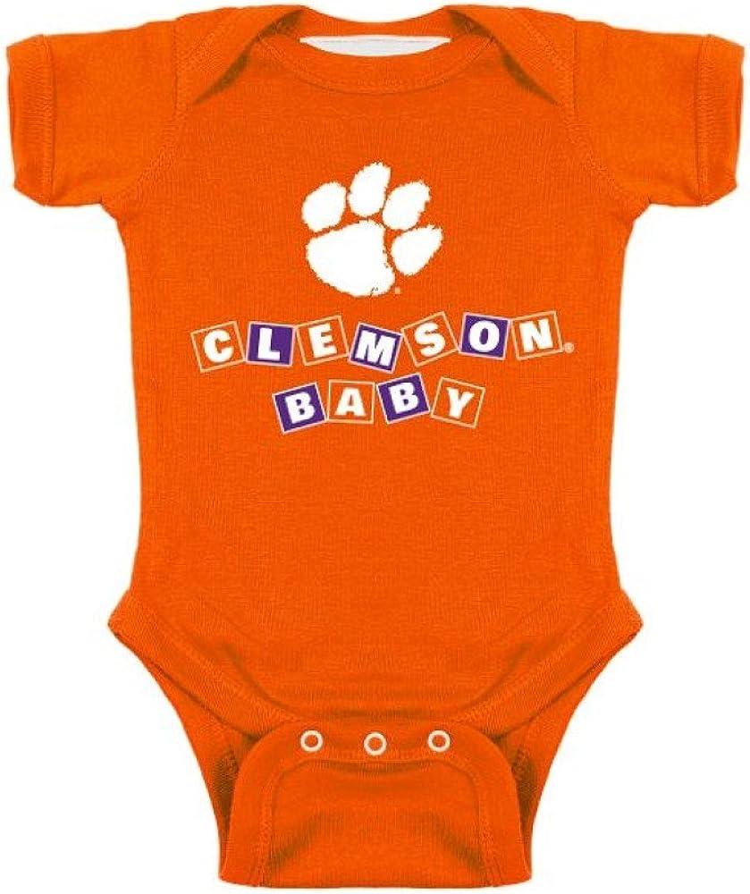 Two Feet Ahead NCAA College Newborn Infant Blocks Bodysuit Creeper