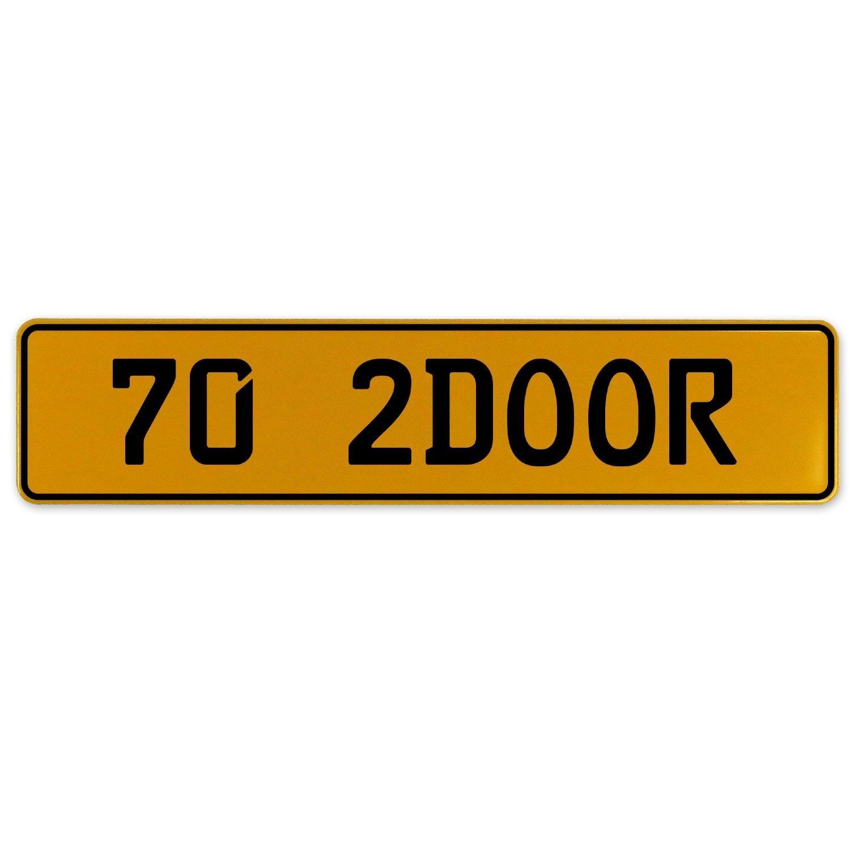 Vintage Parts 562984 70 2DOOR Yellow Stamped Aluminum European Plate