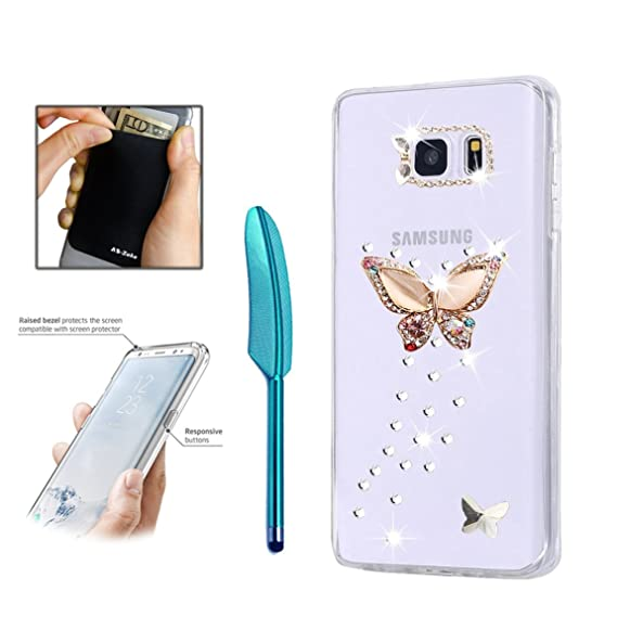 e60c4557fcf Samsung Galaxy S8 Plus Case - AS-Zeke 3D Handmade Bling Crystal Colorful  Rhinestion Butterfly