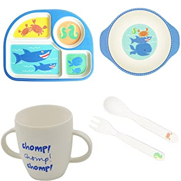 Bamboo Plates More Eco-Friendly Cartoon Dinner Plate Sets Easily Wash Clean 5  sc 1 st  Amazon UK & Bamboo Plates More Eco-Friendly Cartoon Dinner Plate Sets Easily ...
