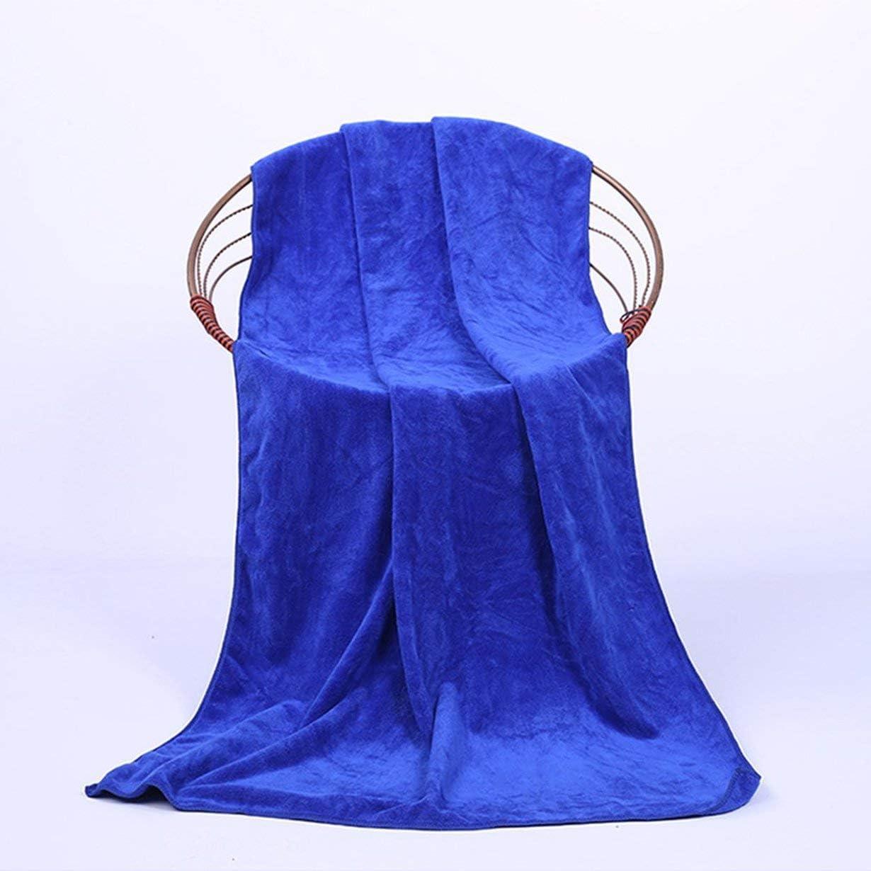 Serviette de plage /à usages multiples en microfibre absorbante /à s/échage rapide Serviette de plage D/ébarbouillette de bain Maillot de bain Serviette de cheveux Serviettes de sport Fitness (Royal Blue