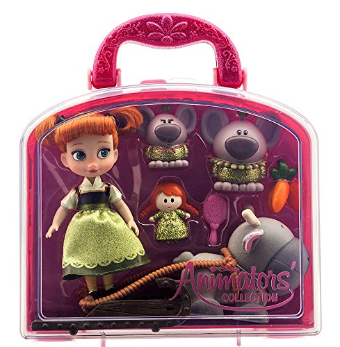 Disney Animators' Collection Anna Mini Doll Play Set - 5'' -