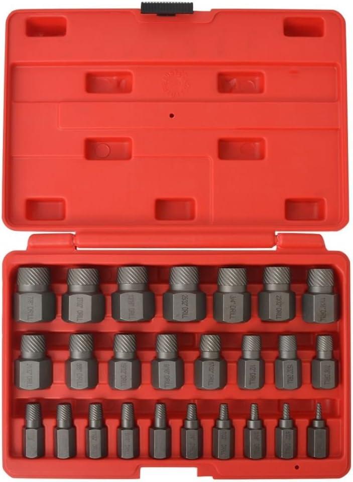 vidaXL Juego de 10 Piezas de Extractores de Tornillos de Acero Kit de Tiradores