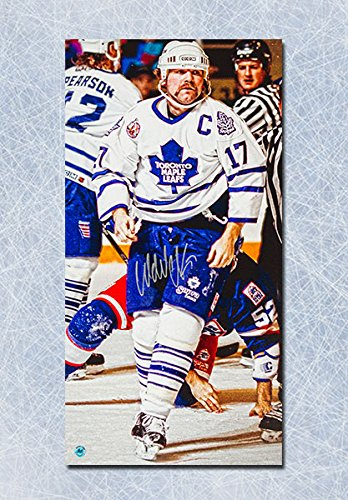 Image Unavailable. Image not available for. Colour  Wendel Clark Toronto  Maple Leafs Autographed ... 68f5c7e98