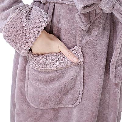 Richie House Women's Plush Soft Warm Fleece Bathrobe Robe RH1591