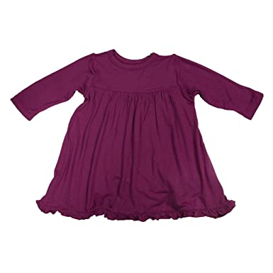 ba262b8aa5754 Amazon.com: KicKee Pants Little Girl Long Sleeve Swing Dress, Orchid ...