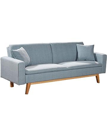 Novohogar Elegante sofá Cama 3 Plazas Malmö Confortable y Fácil de Abrir Gracias a su Sistema