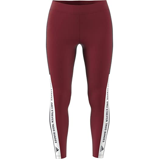 80bc640246ac adidas Women Tights Sport ID Running Gym Training Work Out Maroon Run New  CY0686 (XSmall