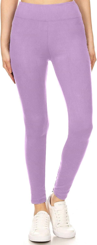 Leggings Depot High Waisted Solid Yoga Leggings at  Women's Clothing store