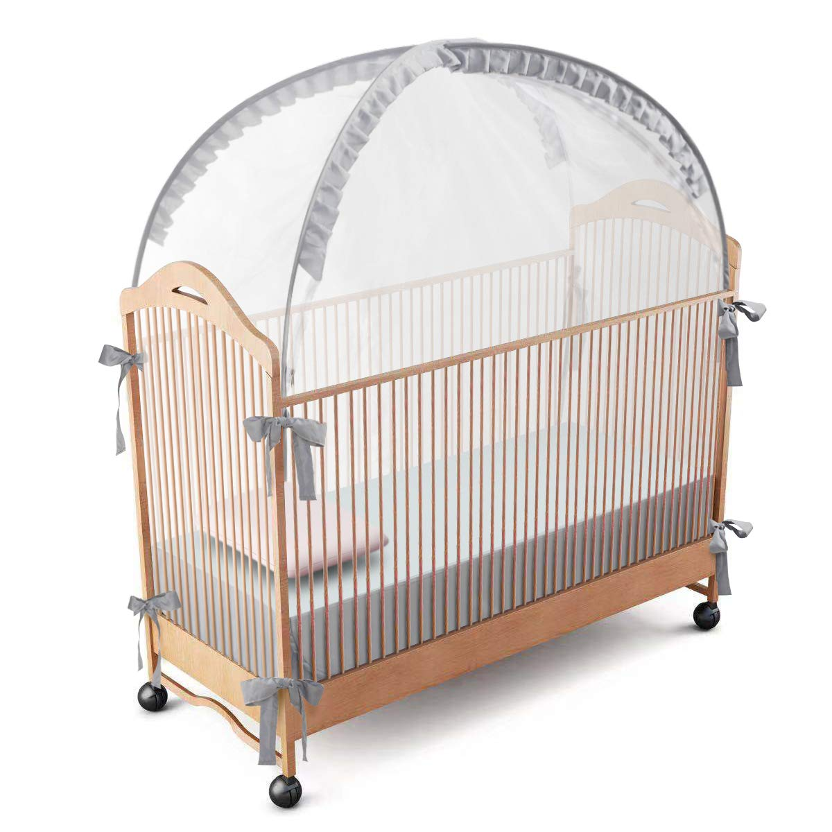 RUNNZER Baby Crib Safety Pop Up Tent, Crib Net to Keep Baby in, Crib Canopy Cover to Keep Baby from Climbing Out by RUNNZER
