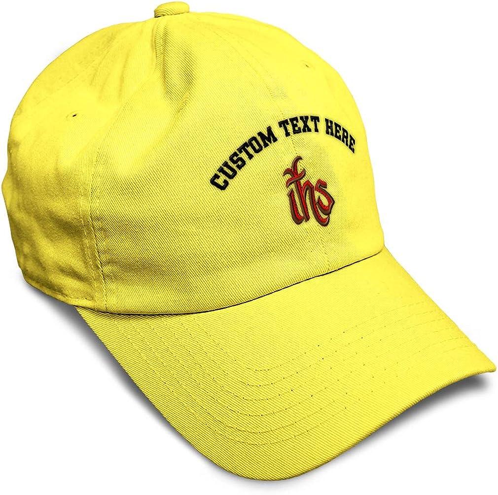 Custom Soft Baseball Cap Ihs Catholic Embroidery Dad Hats for Men /& Women