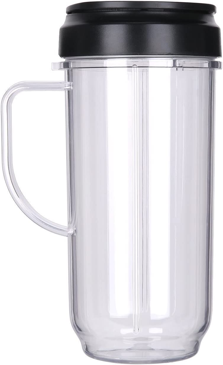 Joystar 22oz Replacement Part magic Cup Mug with handle and lid For 250w Magic Bullet On-The-Go Mug