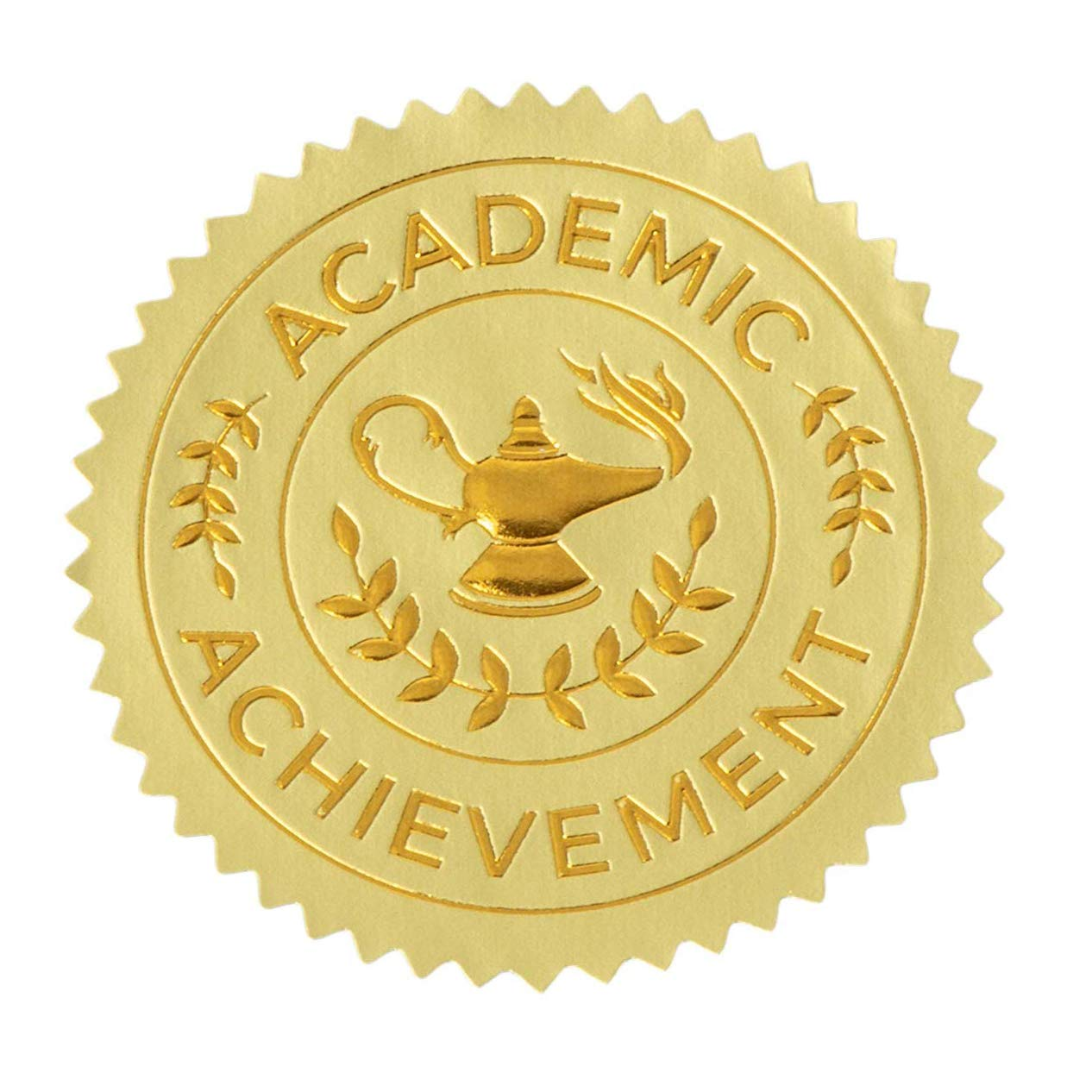 Sustainable greetings academic achievement award sticker 1 7 inches set of 96