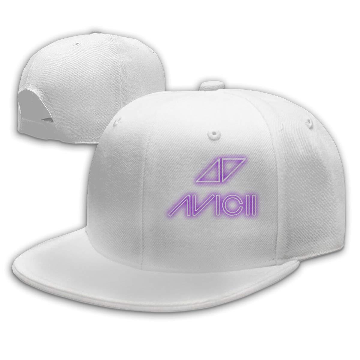 Verstellbar Unisex Damen Herren Cap Classic Avicii Logo Snapback Mode Baseball Cap Flatbrim M/ütze f/ür Jungen M/ädchen Basecap Baseballcap Black