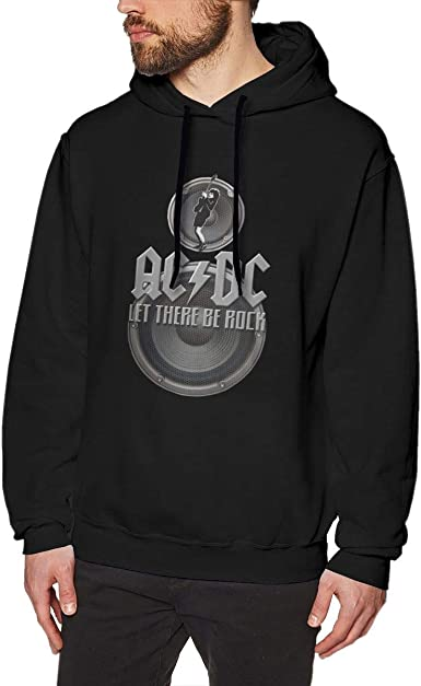 Men Hoodie ACDC Let There Be Rock Shirts Warm Black ...