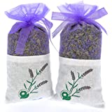 2 bags of 100% Pure Dried Lavender Buds for Closet and Drawers - Air Natural Freshener for Room and Car - Moth Deterrent - Lavender Aromatherapy