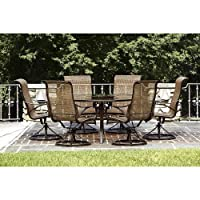 Owens 7-piece Patio Dining Set. This High Quality Outdoor Furniture Set Is a Beautiful Addition to Any Backyard or Patio Guaranteed. from Garden Oasis