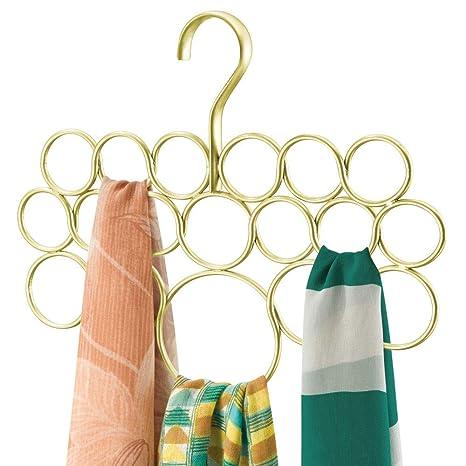 mDesign Percha para pañuelos - Organizador de pañuelos, chales, bufandas y más - Organizador