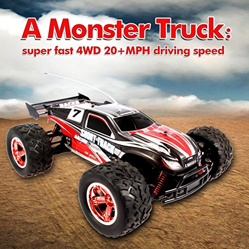 Geekper RC Car - Terrain RC Cars - Electric Remote Control Off Road Monster Truck - 1:12 Scale 2.4Ghz Radio 4WD Fast RC Car with 2 Rechargeable Batteries