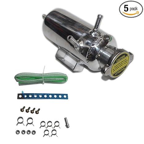 Amazon.com: Auto Overflow Catch Can Water Cooler Tank Coolant Reservoir Bottle Kit Car SUV Aluminum 350ML: Automotive