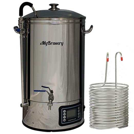 MyBrewery | Máquina compacta para elaborar cerveza artesana | 45 litros | Incluye chiller | Memoriza