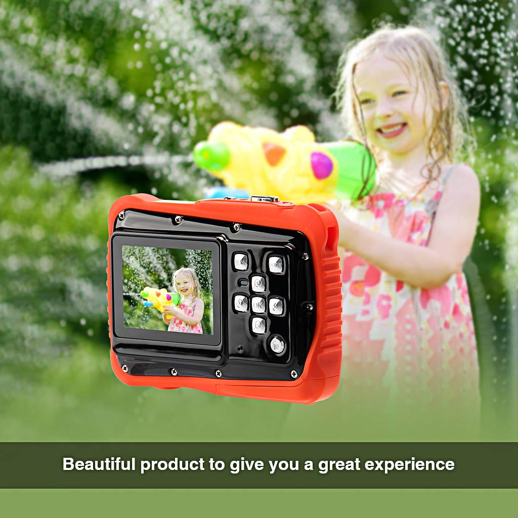 Veeca Waterproof Kids Digital Camera 12MP HD Photo Resolution Underwater Camcorder with 8X Digital Zoom Flash Mic and 8G SD Card 3 Non-Rechargeable Batteries Included by Veeca (Image #3)