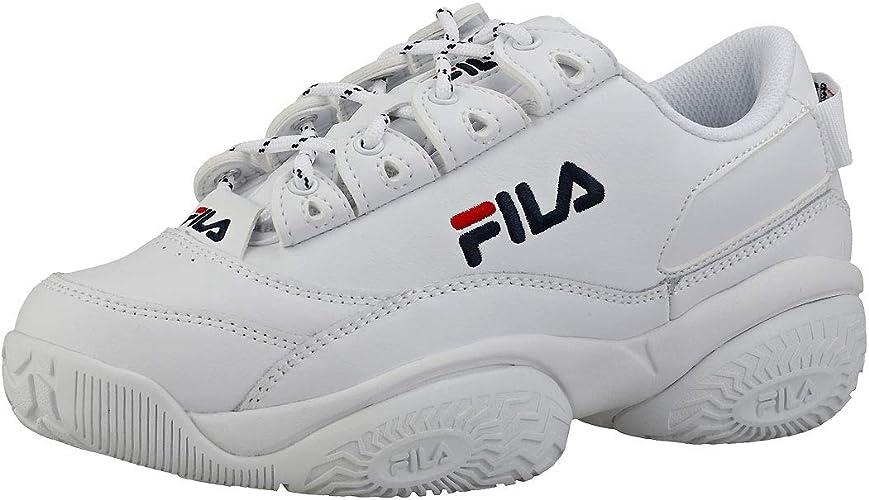 Détails sur Femmes Fila Provenance Baskets Noir Noir Blanc Baskets