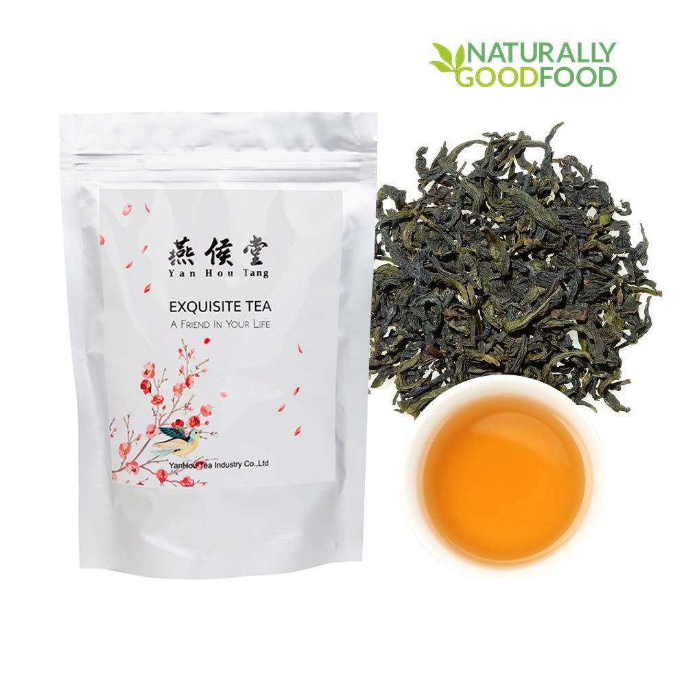 Yan Hou Tang - Organic Taiwan Unique Oolong Black Tea Full Loose Leaf Alpine High Mountain Wulong Grown Honey Flavor Half Fermented Caffeine Medium US FDA SGS Verified 75g