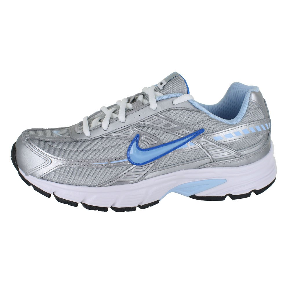 084dfd98458 Nike Women s Initiator Metallic Silver Ice Blue-White Ankle-High Running  Shoe - 6M