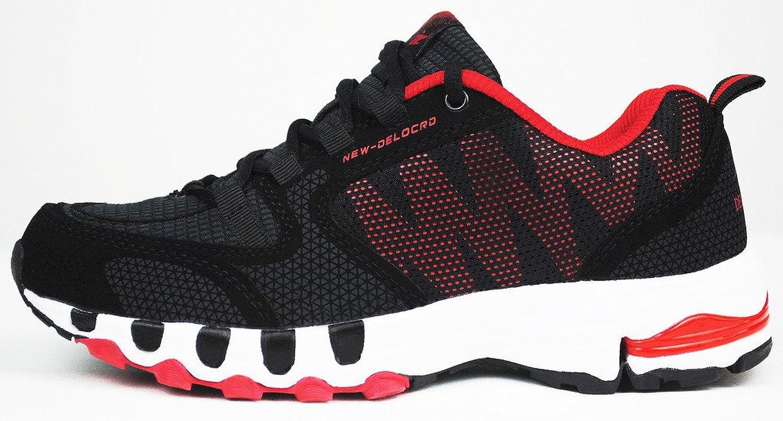 iLoveSIA Zapatos de Running Cómodos para Hombre Negro+Rojo 41 EU TUyBY7w