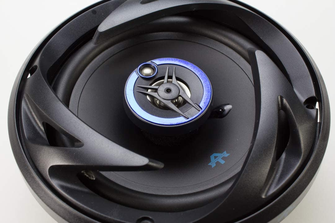 Autotek ATS653 6.5 Inch 3 Way Car Speakers Neo-Mylar Soft Dome Tweeter Voice Coil 3 Way Black and Blue, Pair - 300 Watt Max Pair of 2 Car Speakers