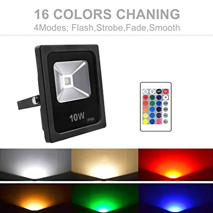 10w Rgb Led Flood Light Ip66 Waterproof Outdoor Color Changing Led
