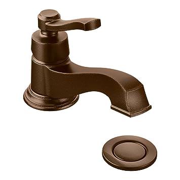 Moen S6202orb Rothbury One Handle Low Arc Bathroom Faucet Oil
