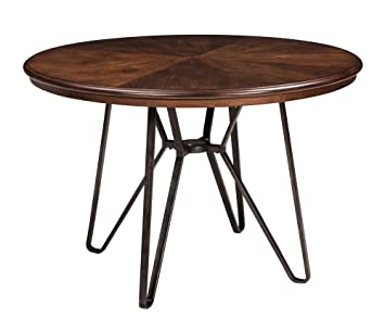 Ashley Furniture Signature Design   Centiar Dining Room Table   Mid Century  Modern Style   Round