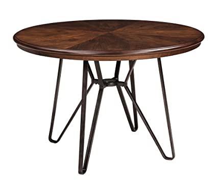Merveilleux Ashley Furniture Signature Design   Centiar Dining Room Table   Mid Century  Modern Style   Round