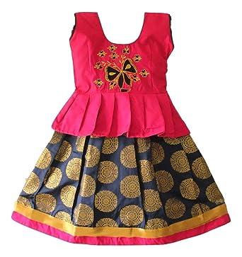 74a5b1a53024 TrendyKidz Designer Pattu Pavadai(lehengha Choli) for Baby Girls ...