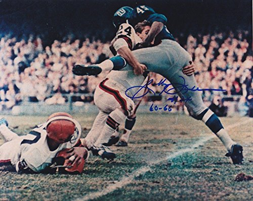 BOBBY FRANKLIN CLEVELAND BROWNS 1964 NFL CHAMPS ACTION SIGNED 8x10 - Autographed NFL Photos